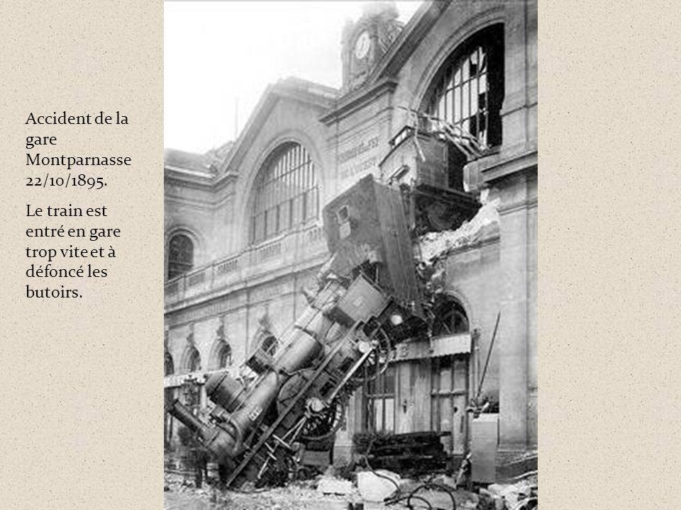 Accident de la gare Montparnasse 22/10/1895.