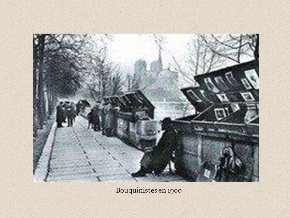 Bouquinistes en 1900