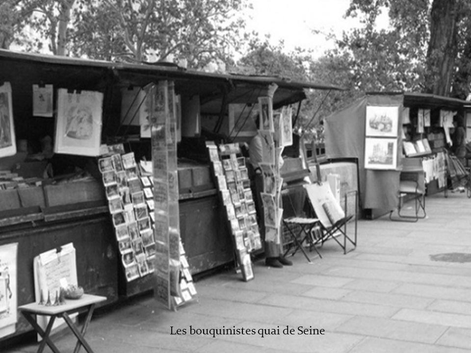 Les bouquinistes quai de Seine