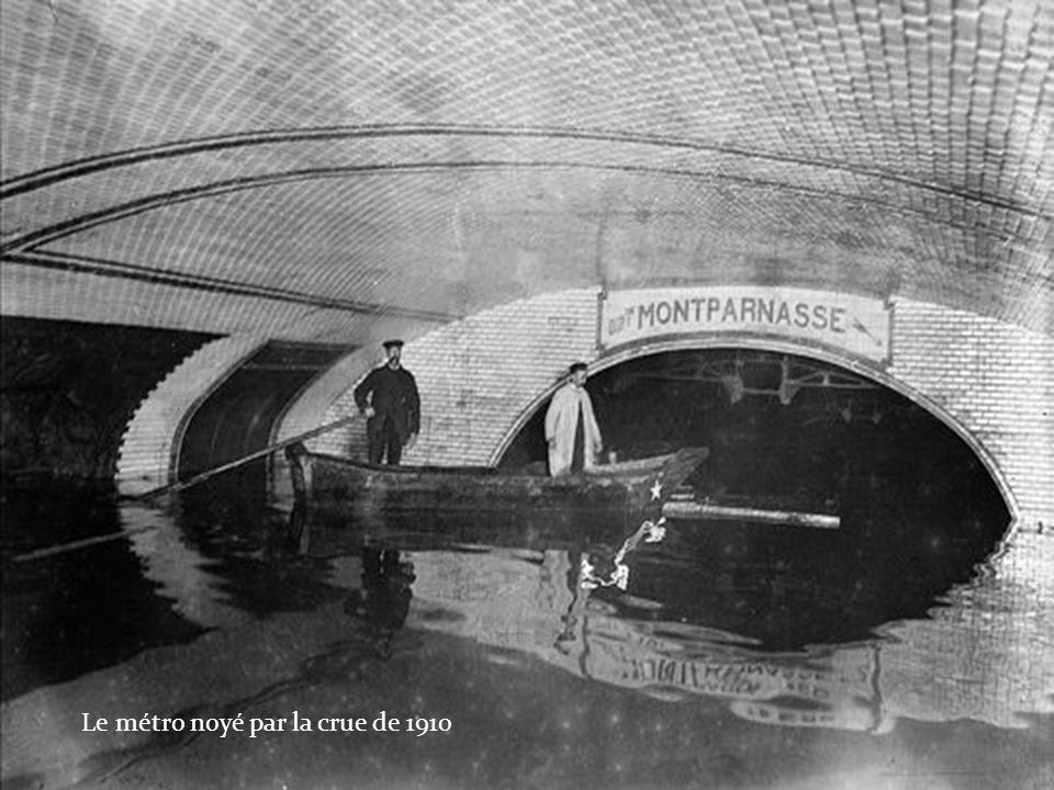 Le métro noyé par la crue de 1910