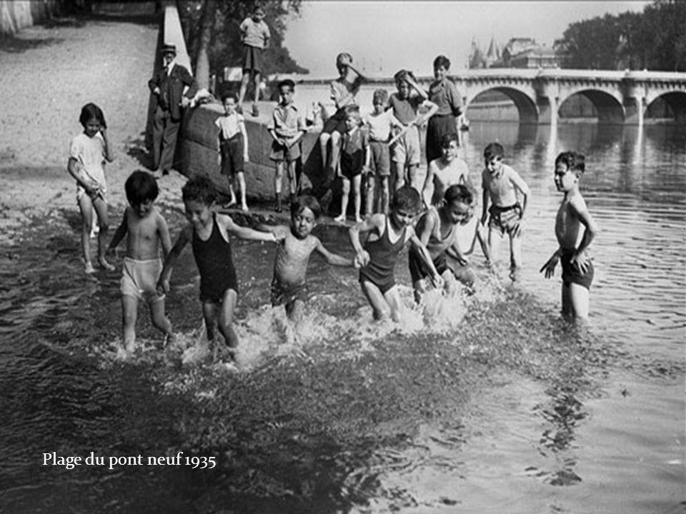 Plage du pont neuf 1935