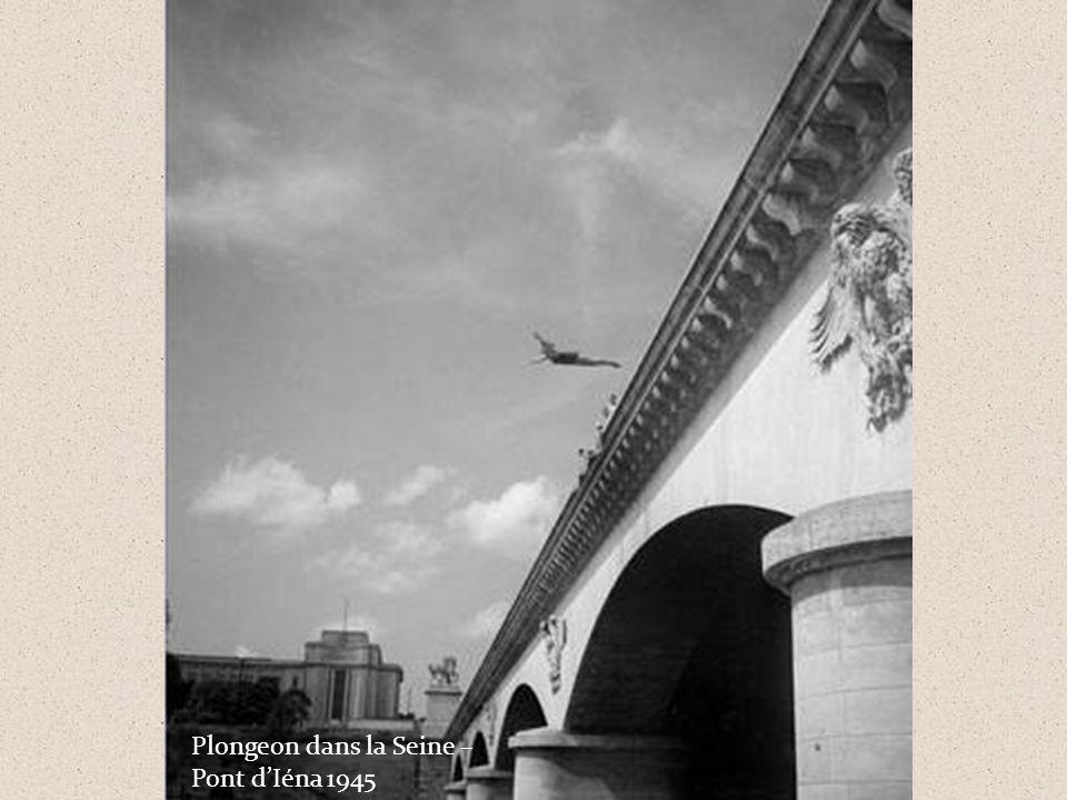 Plongeon dans la Seine – Pont d'Iéna 1945