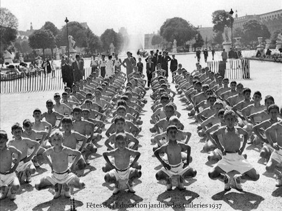 Fêtes de l'Education jardins des tuileries 1937