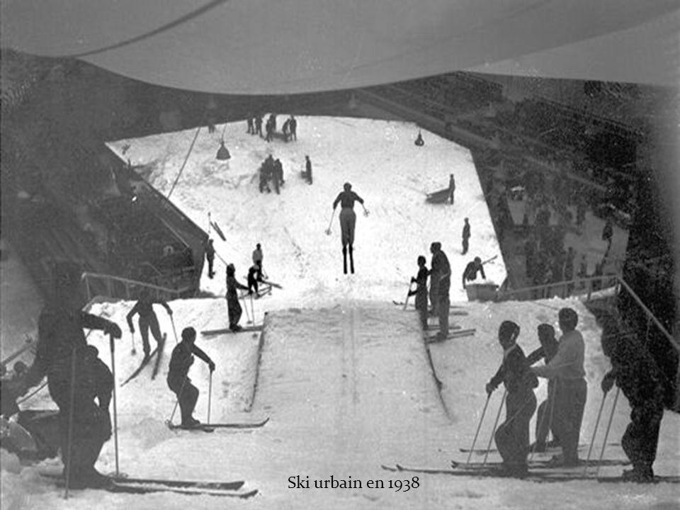 Ski urbain en 1938