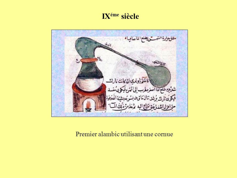 Premier alambic utilisant une cornue