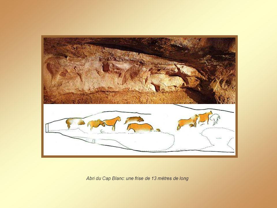 Abri du Cap Blanc: une frise de 13 mètres de long
