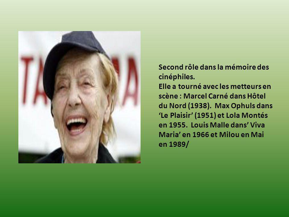 Second rôle dans la mémoire des cinéphiles.