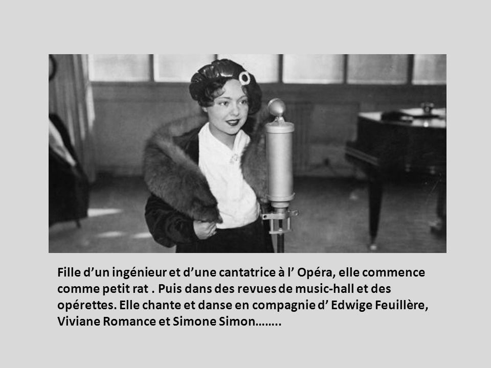 Fille d'un ingénieur et d'une cantatrice à l' Opéra, elle commence comme petit rat .