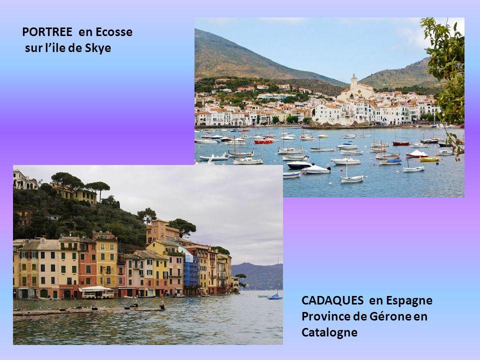 PORTREE en Ecosse sur l'ile de Skye CADAQUES en Espagne Province de Gérone en Catalogne