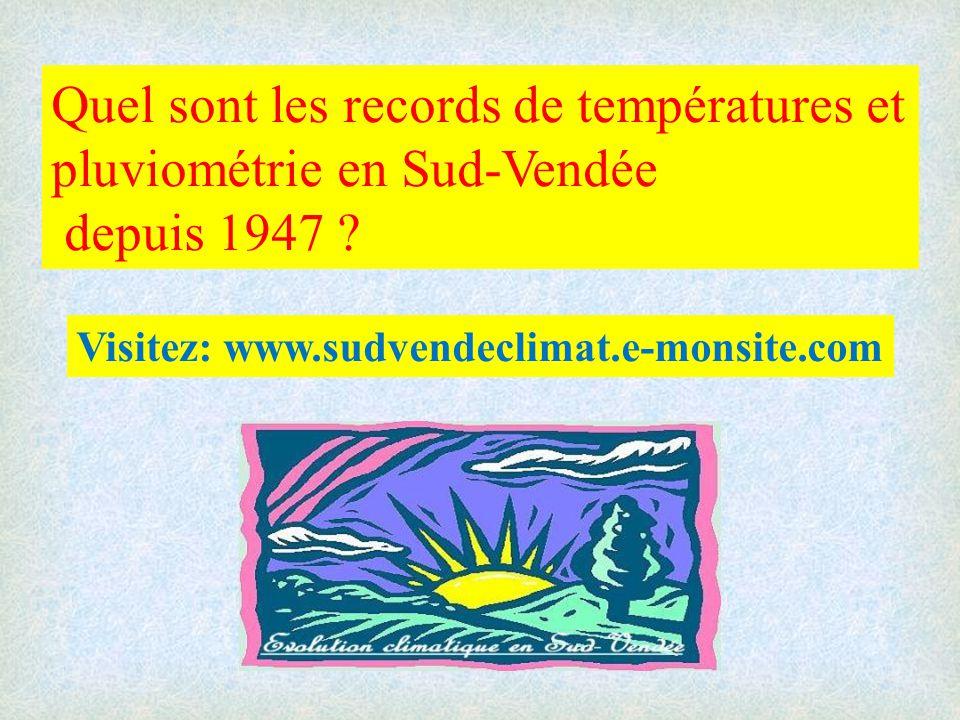 Quel sont les records de températures et pluviométrie en Sud-Vendée