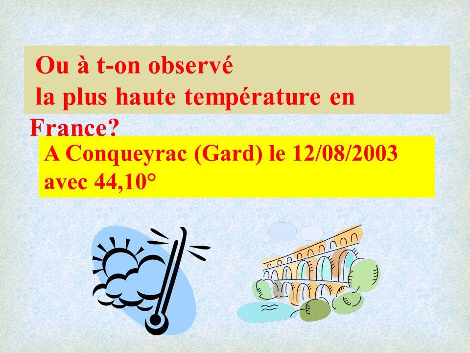 la plus haute température en France
