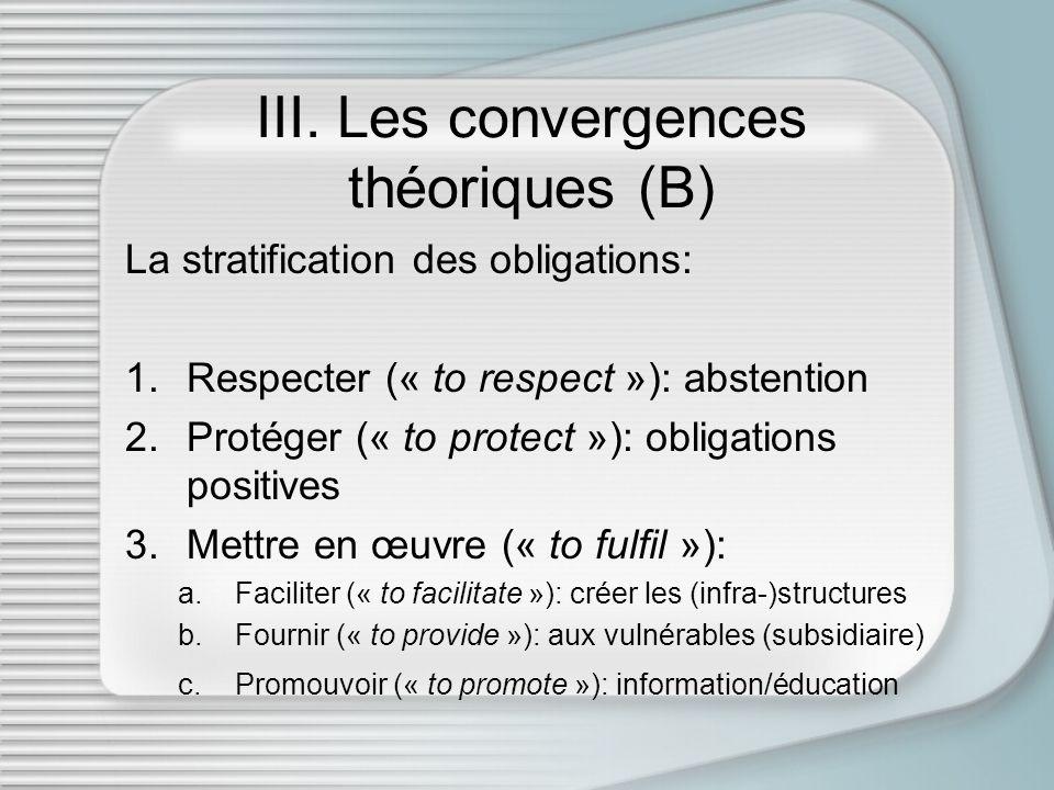 III. Les convergences théoriques (B)