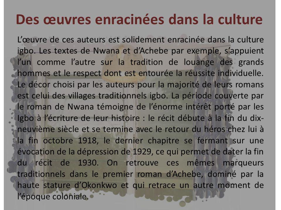 Des œuvres enracinées dans la culture