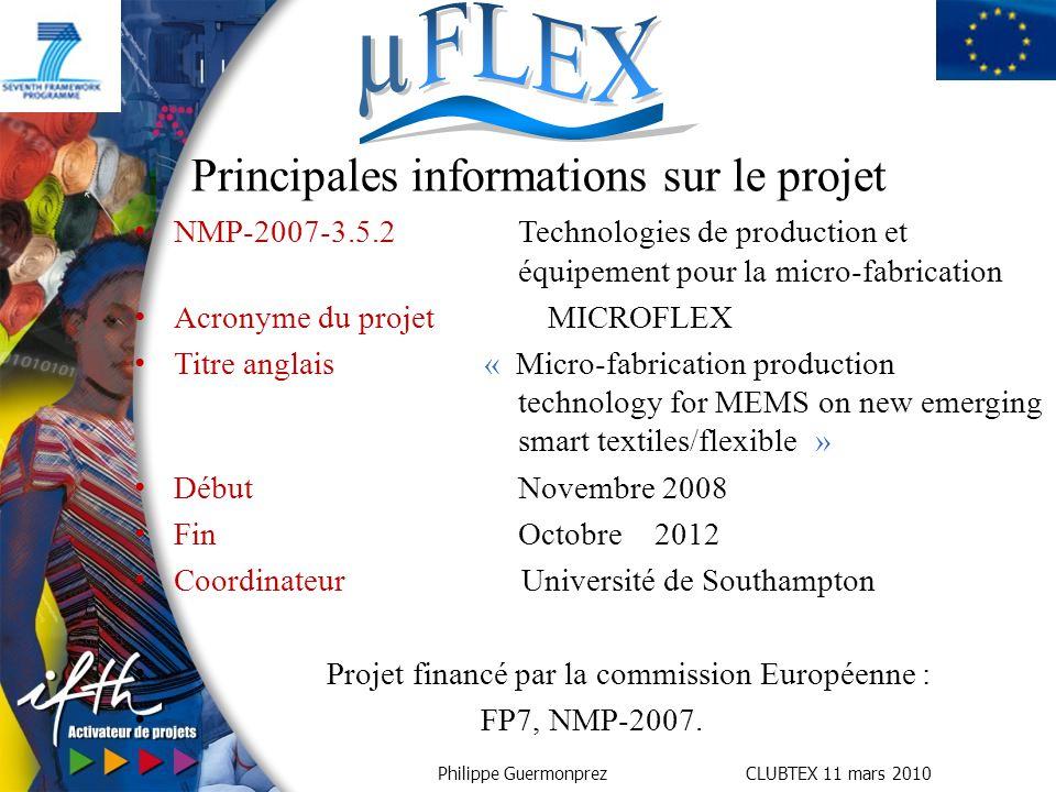 Principales informations sur le projet