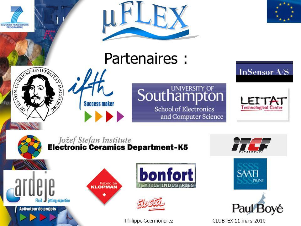Partenaires : Université de southampton = coordinateur / conception des memes encre et système de dépose.
