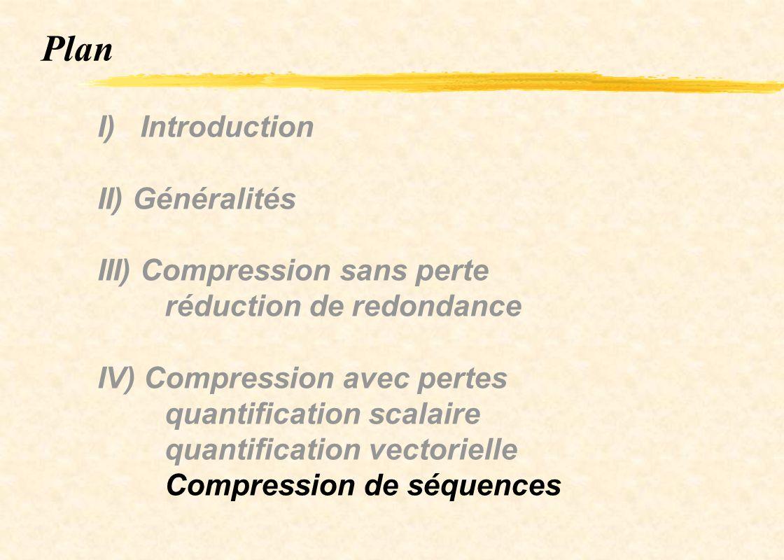 Plan I) Introduction II) Généralités III) Compression sans perte