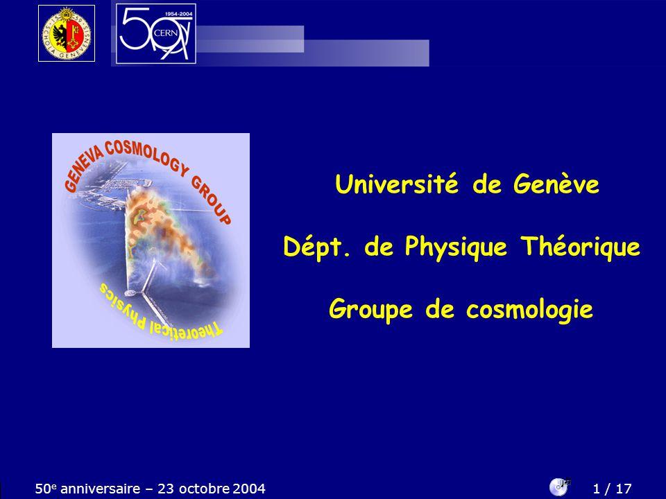 Dépt. de Physique Théorique