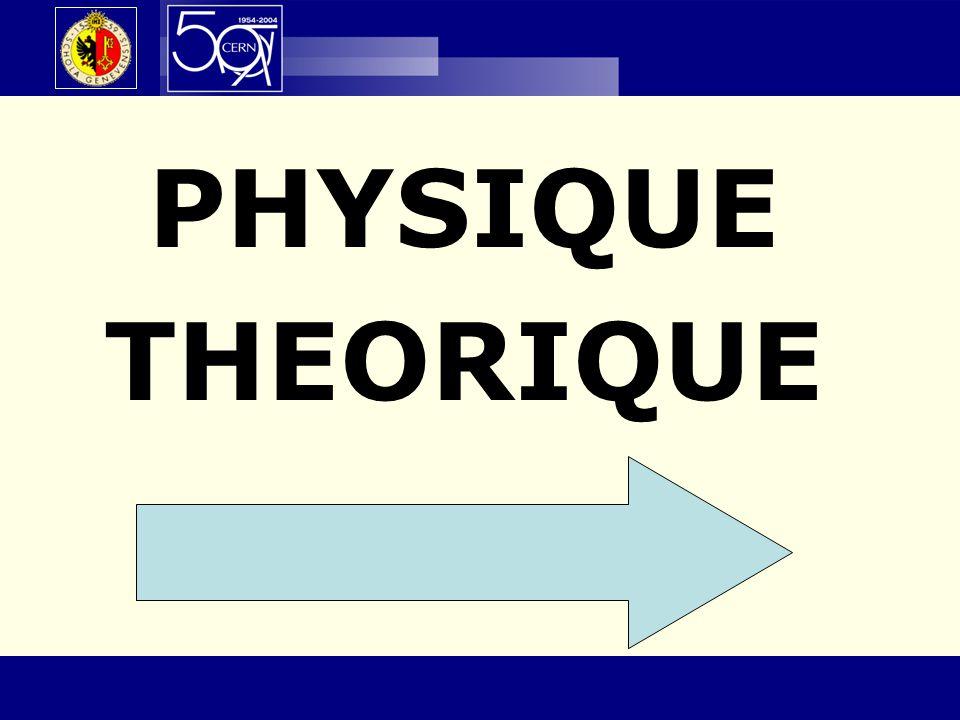 PHYSIQUE THEORIQUE 50e anniversaire – 23 octobre 2004