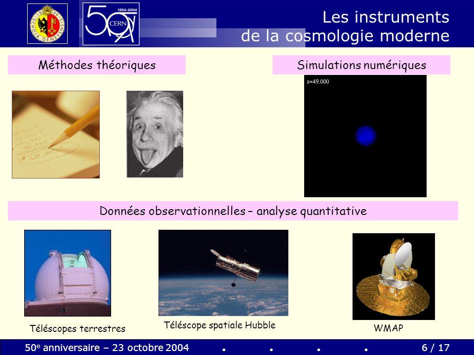 Les instruments de la cosmologie moderne