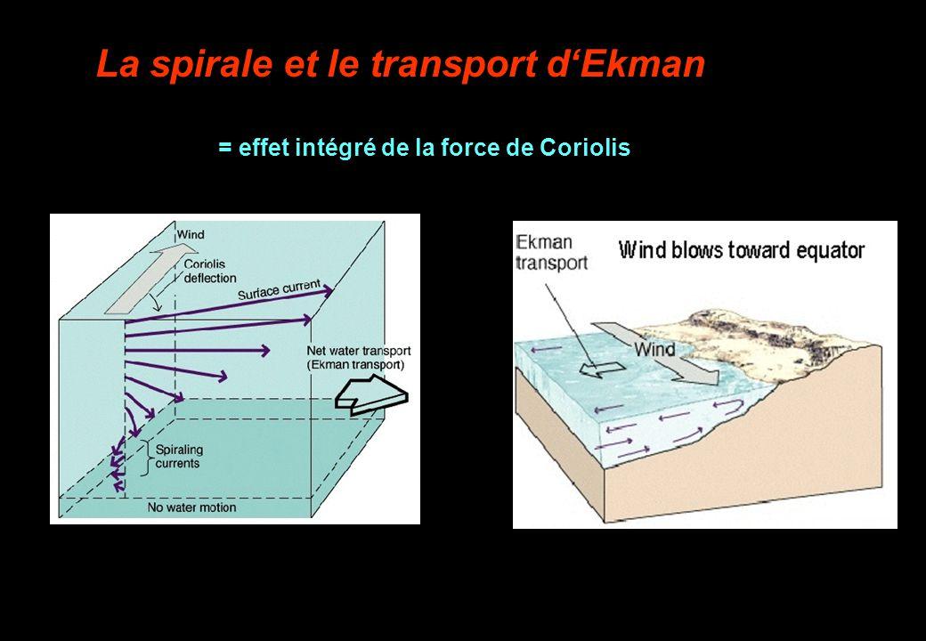 La spirale et le transport d'Ekman