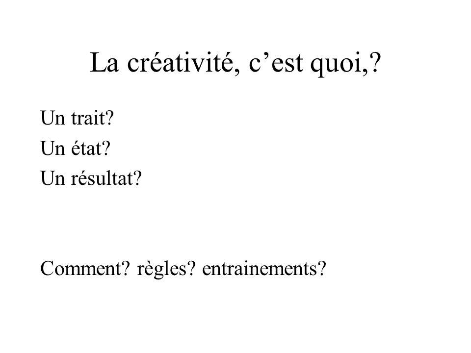 La créativité, c'est quoi,