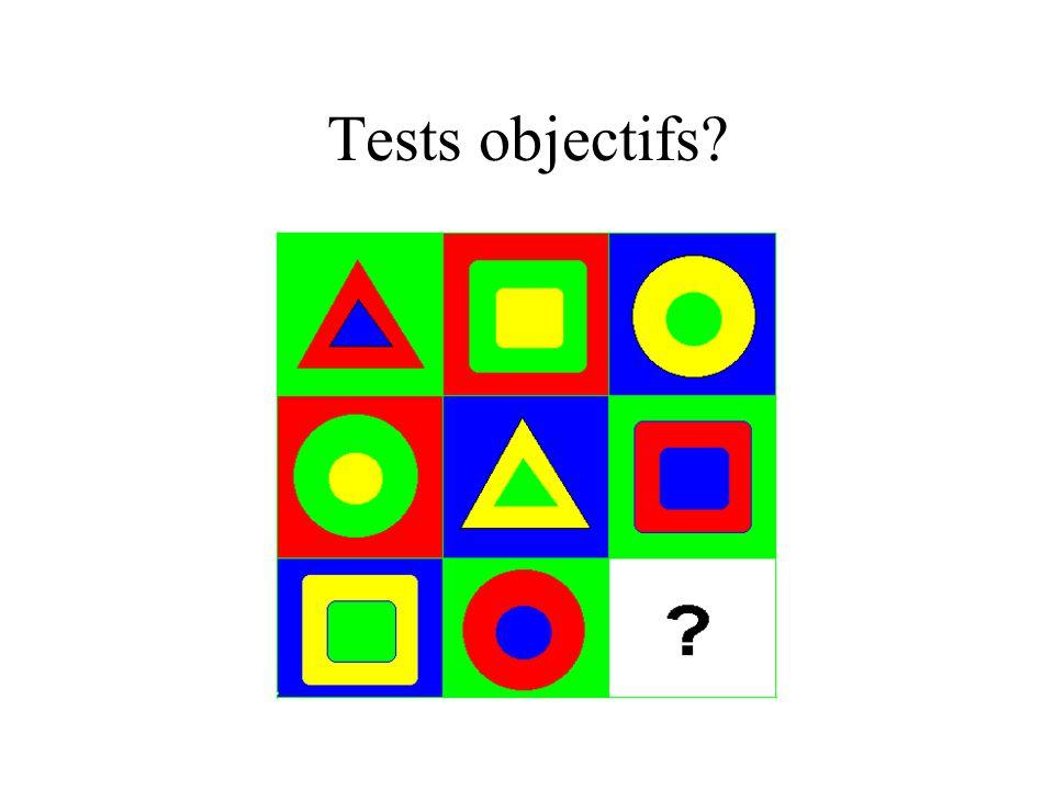 Tests objectifs