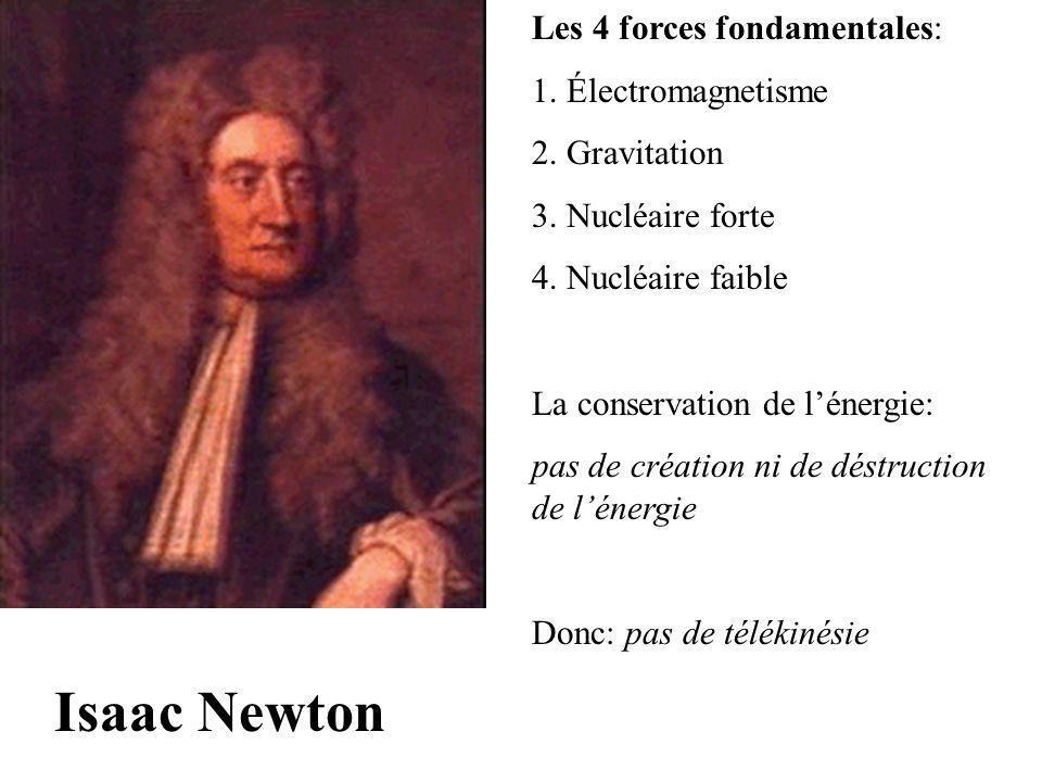 Isaac Newton Les 4 forces fondamentales: 1. Électromagnetisme