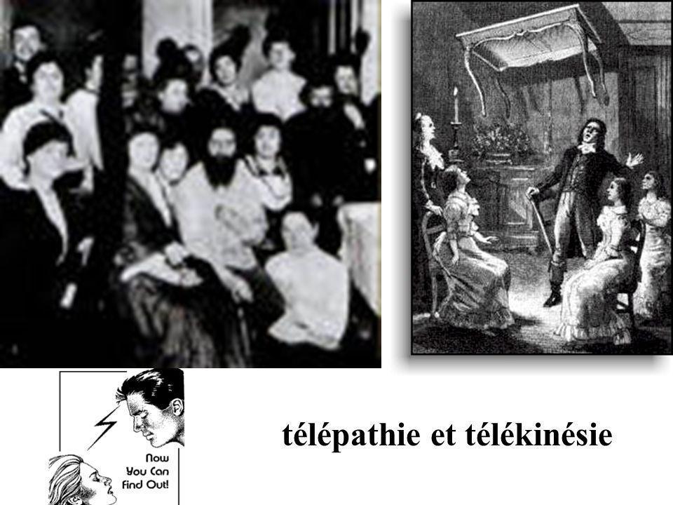 télépathie et télékinésie