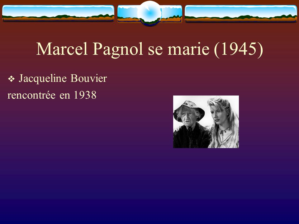 Marcel Pagnol se marie (1945)