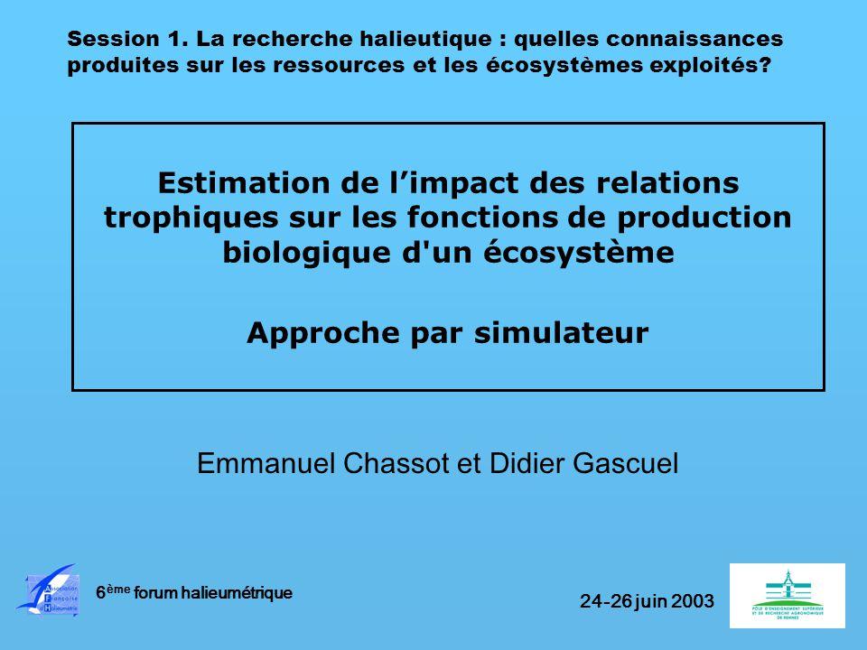 Emmanuel Chassot et Didier Gascuel