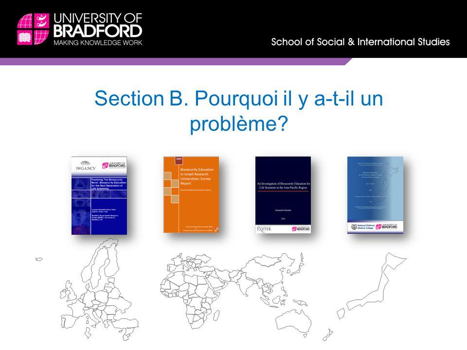 Section B. Pourquoi il y a-t-il un problème