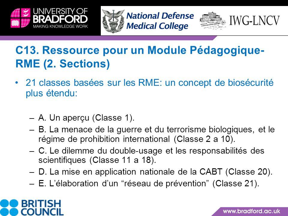 C13. Ressource pour un Module Pédagogique-RME (2. Sections)