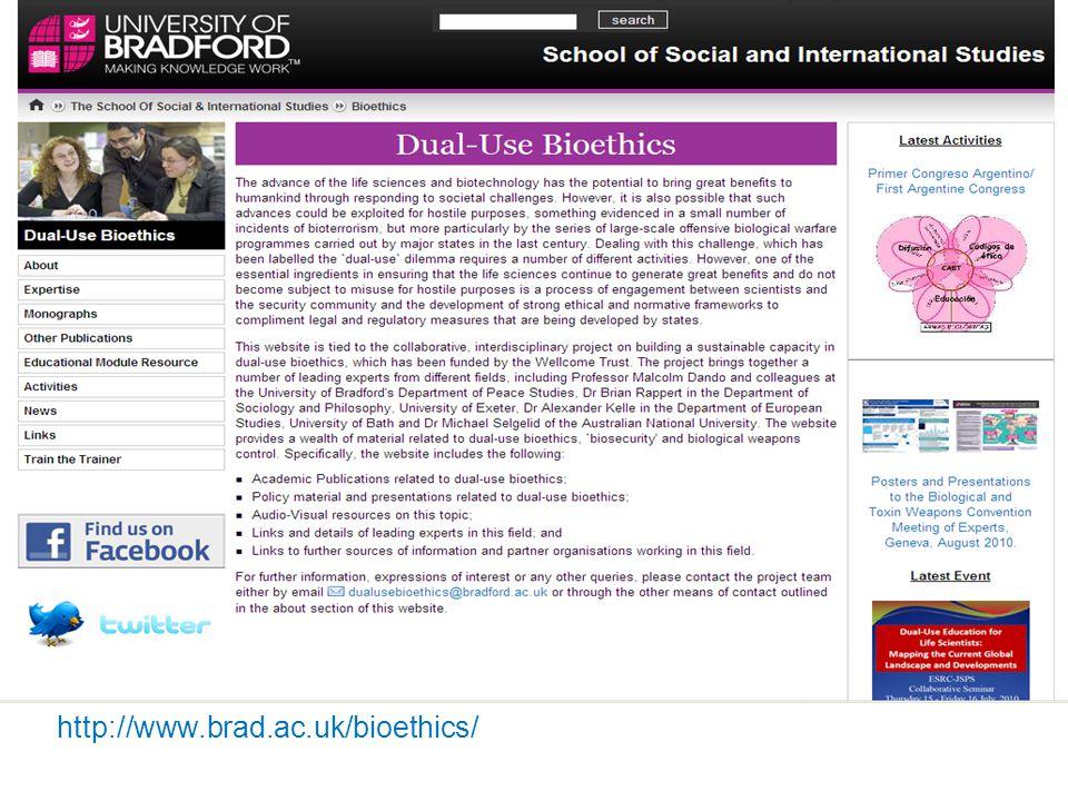 http://www.brad.ac.uk/bioethics/