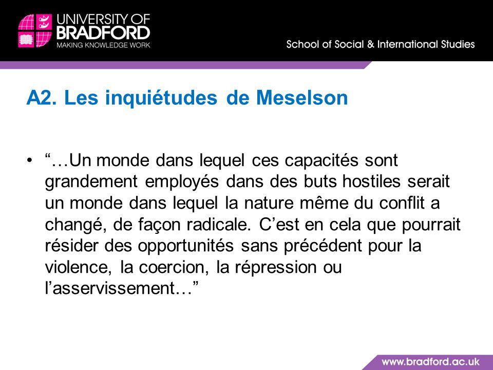 A2. Les inquiétudes de Meselson