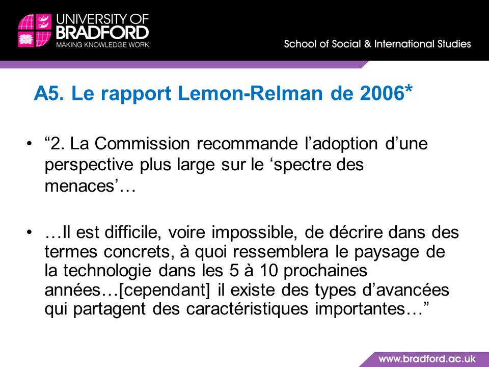 A5. Le rapport Lemon-Relman de 2006*