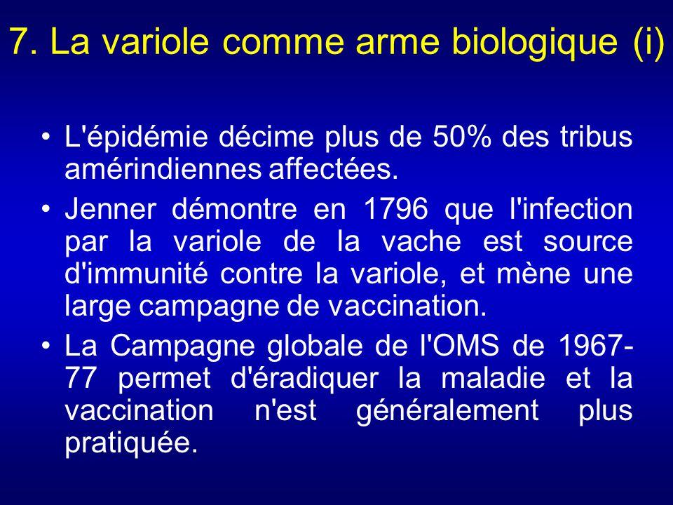 7. La variole comme arme biologique (i)