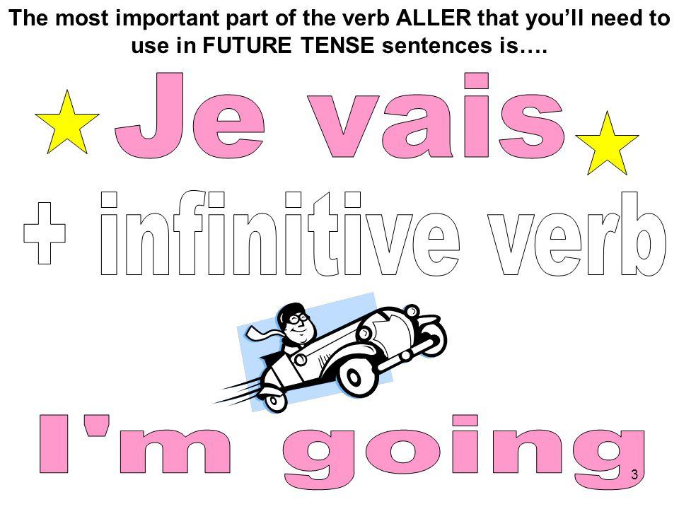 Je vais + infinitive verb I m going