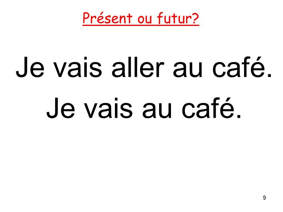 Je vais aller au café. Je vais au café.