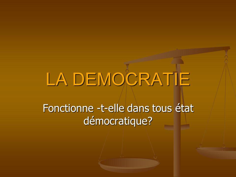 Fonctionne -t-elle dans tous état démocratique