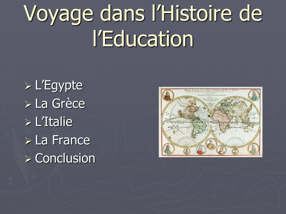 Voyage dans l'Histoire de l'Education