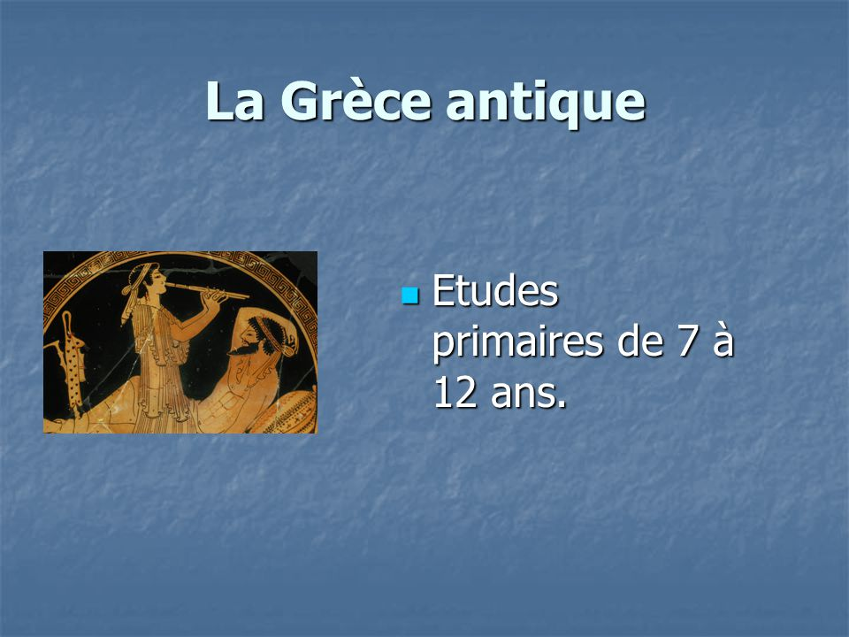 La Grèce antique Etudes primaires de 7 à 12 ans.
