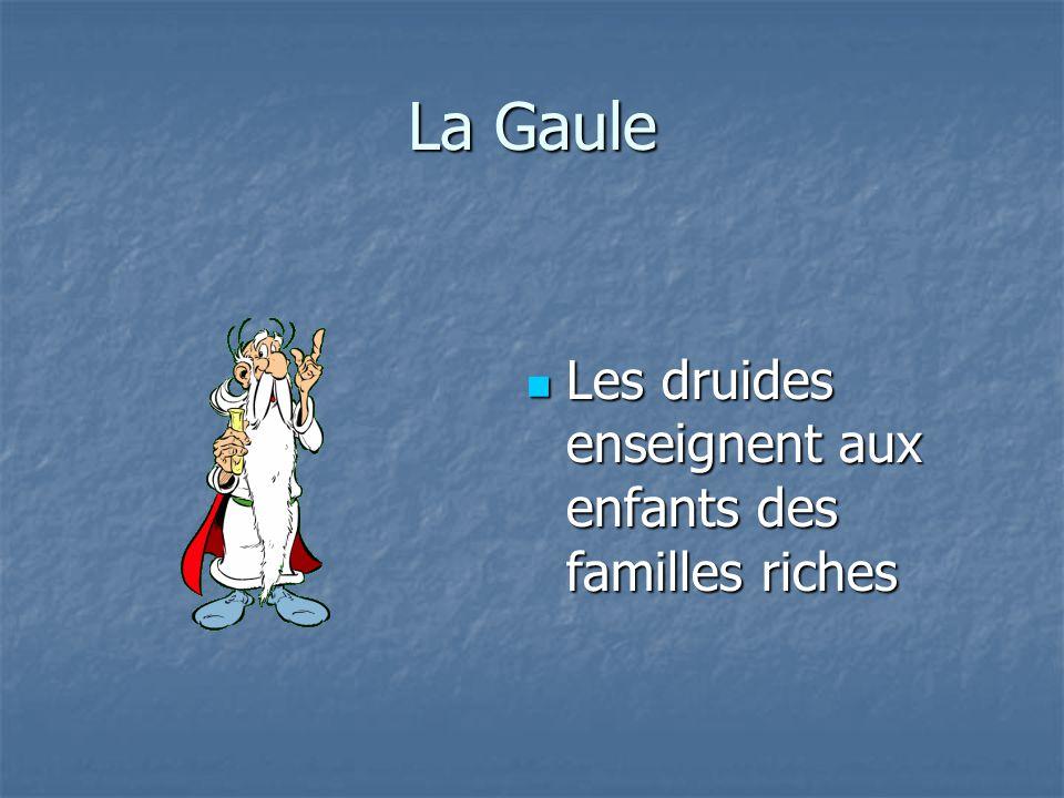 La Gaule Les druides enseignent aux enfants des familles riches