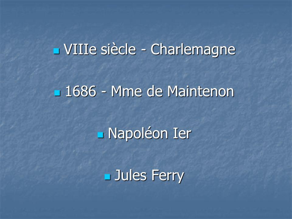 VIIIe siècle - Charlemagne