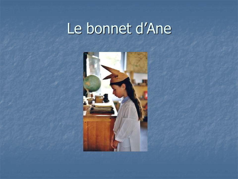 Le bonnet d'Ane