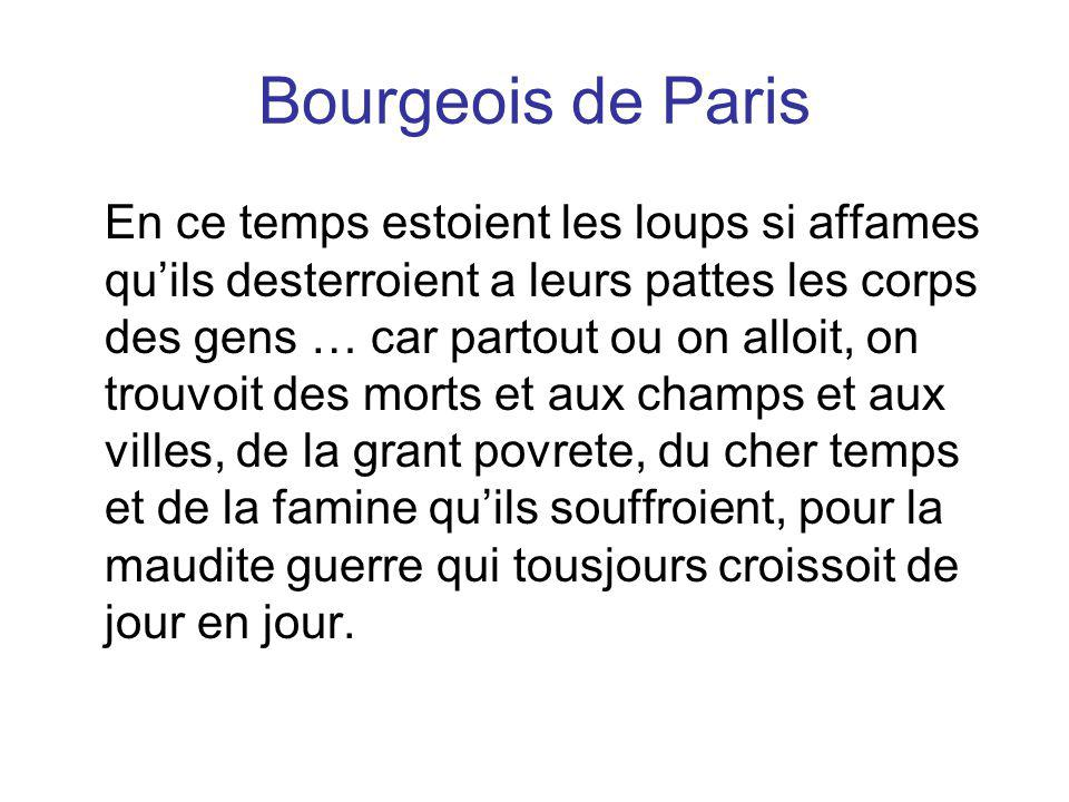 Bourgeois de Paris