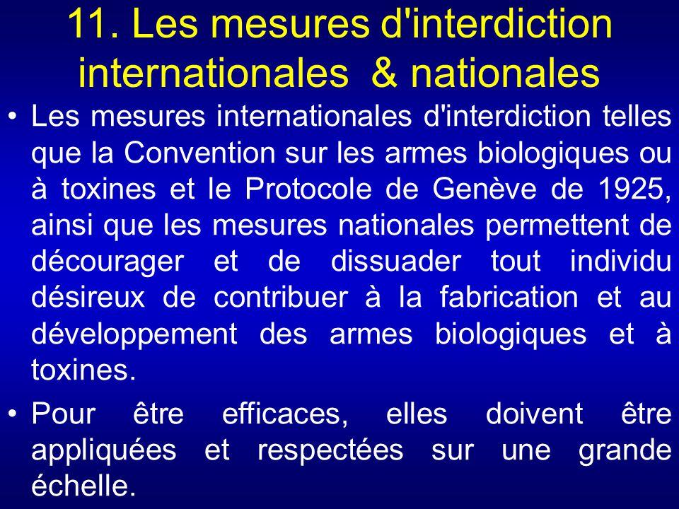 11. Les mesures d interdiction internationales & nationales