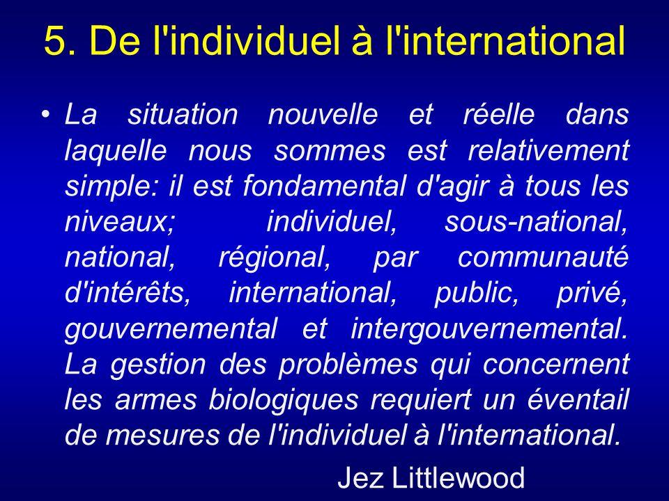 5. De l individuel à l international