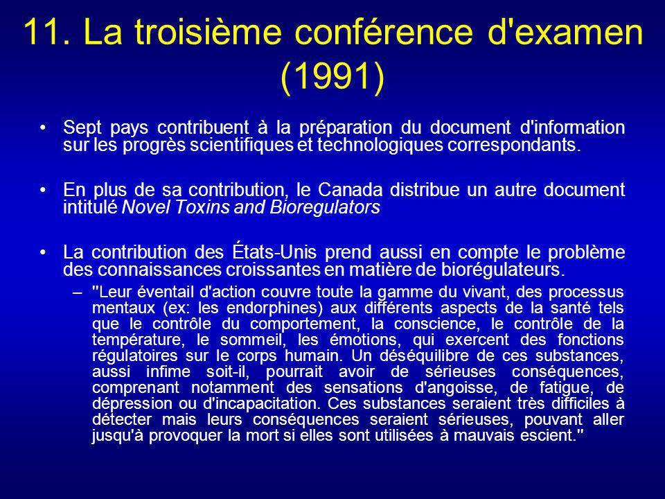 11. La troisième conférence d examen (1991)