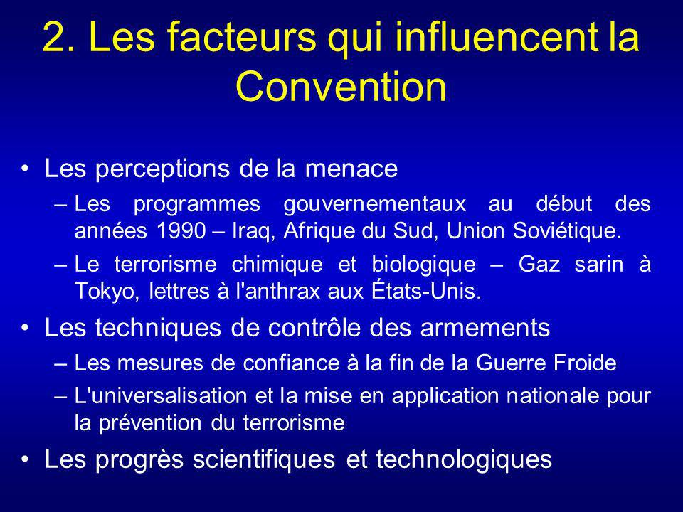 2. Les facteurs qui influencent la Convention
