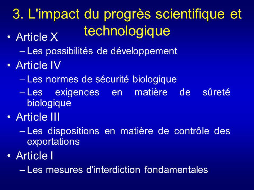 3. L impact du progrès scientifique et technologique